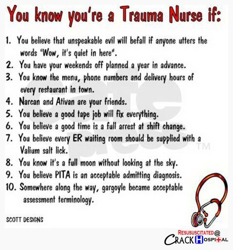 A Special Shout Out To Trauma Nurses Scrubs The