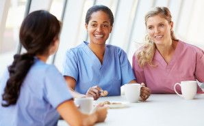 Nurses on a coffee break