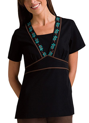 Cherokee embroidered top scrubs