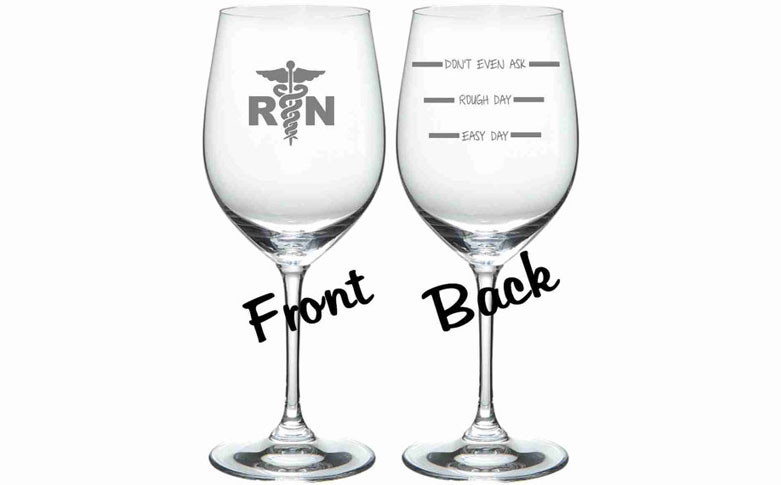 f0aa4475aff Nurse bling: etched wine glasses - Scrubs | The Leading Lifestyle ...