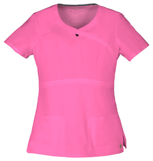 """""""Romance"""" Mock Wrap Top in Pink Party"""