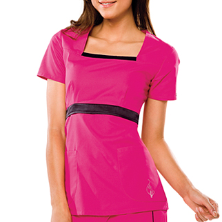 Baby Phat's girly things scrubs top