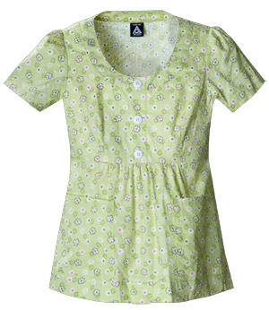 green scrubs top