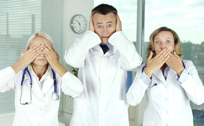 nurses - see no evil, speak no evil, hear no evil
