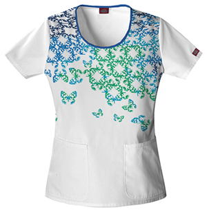 Jr. Fit Round Neck Top in Butterfly Effect