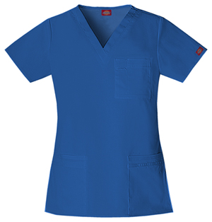 Blue Dickies v-neck top
