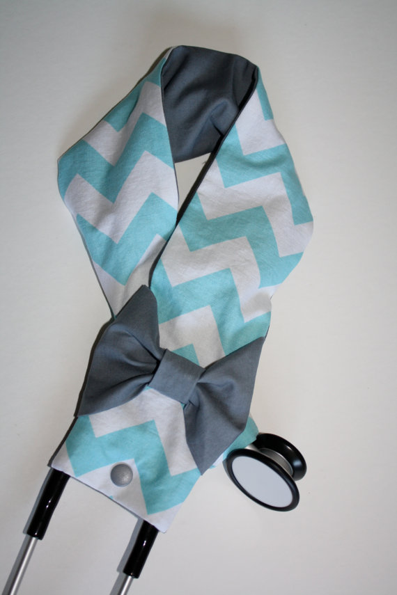 Touch Of Turquoise Blue And Plum Boutique Stethoscope Cover 1000 Via
