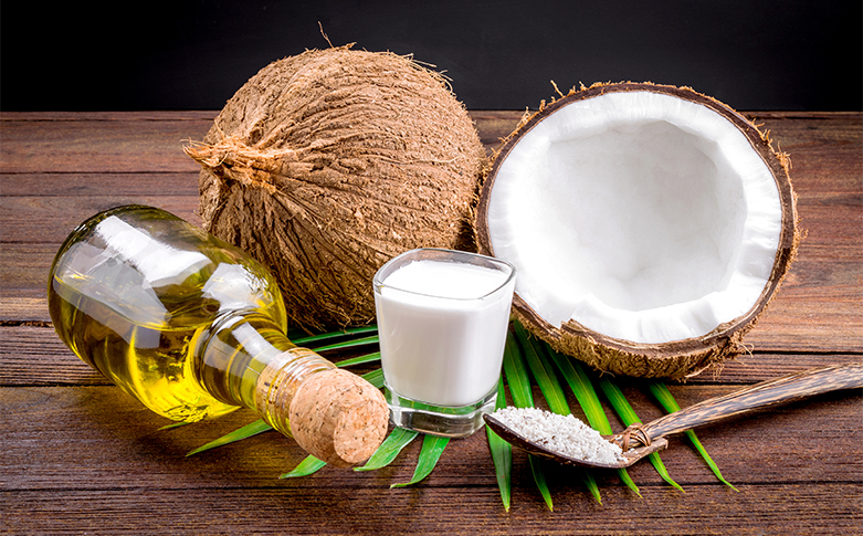 Coconut, olive oil
