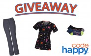 GIVEAWAY: Code Happy Scrubs & Socks Set