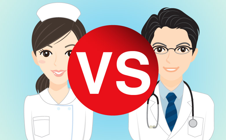 doctors vs nurses Having been both a nurse and a doctor, most of the questions i get from readers have to do with making the decision between nursing and medicine.