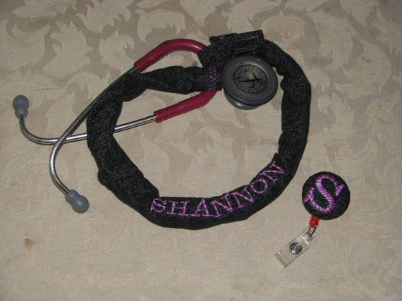 embroidered stethoscope cover