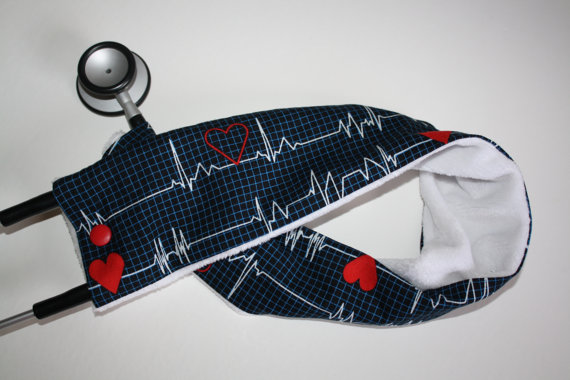 heart beat stethoscope cover