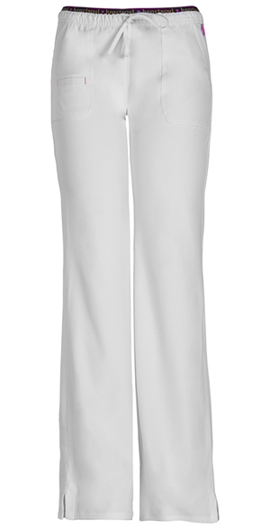 Low-Rise Drawstring Pant in White