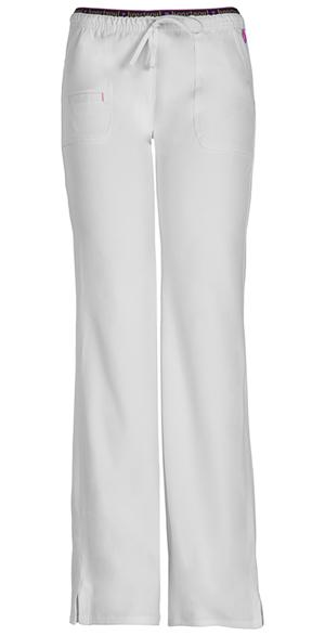 Low-Rise Drawstring Pant in White