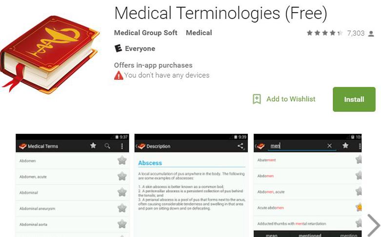 Medical Terminologies app