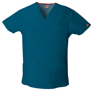 Men's V-Neck Top in Caribbean Blue