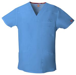 Men's V-Neck Top in Ceil Blue