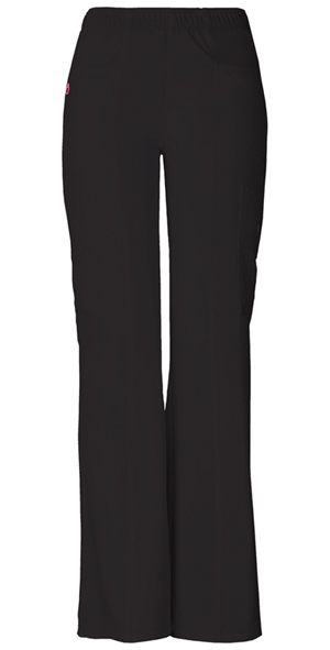 """BFF"" Mid-Rise Elastic Waist Cargo Pant in Black"