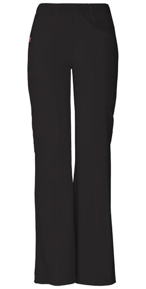 """BFF"" Mid-Rise Elastic Waist Cargo Pant in Black"
