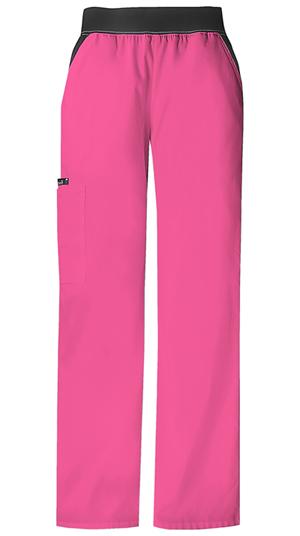 mid-rise knit waist pull on pants