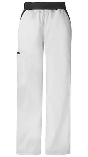 Mid-Rise Knit Waist Pull-On Pant