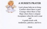 A simple nurse's prayer