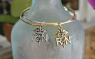 Nurse bling: Simple RN bangle bracelet