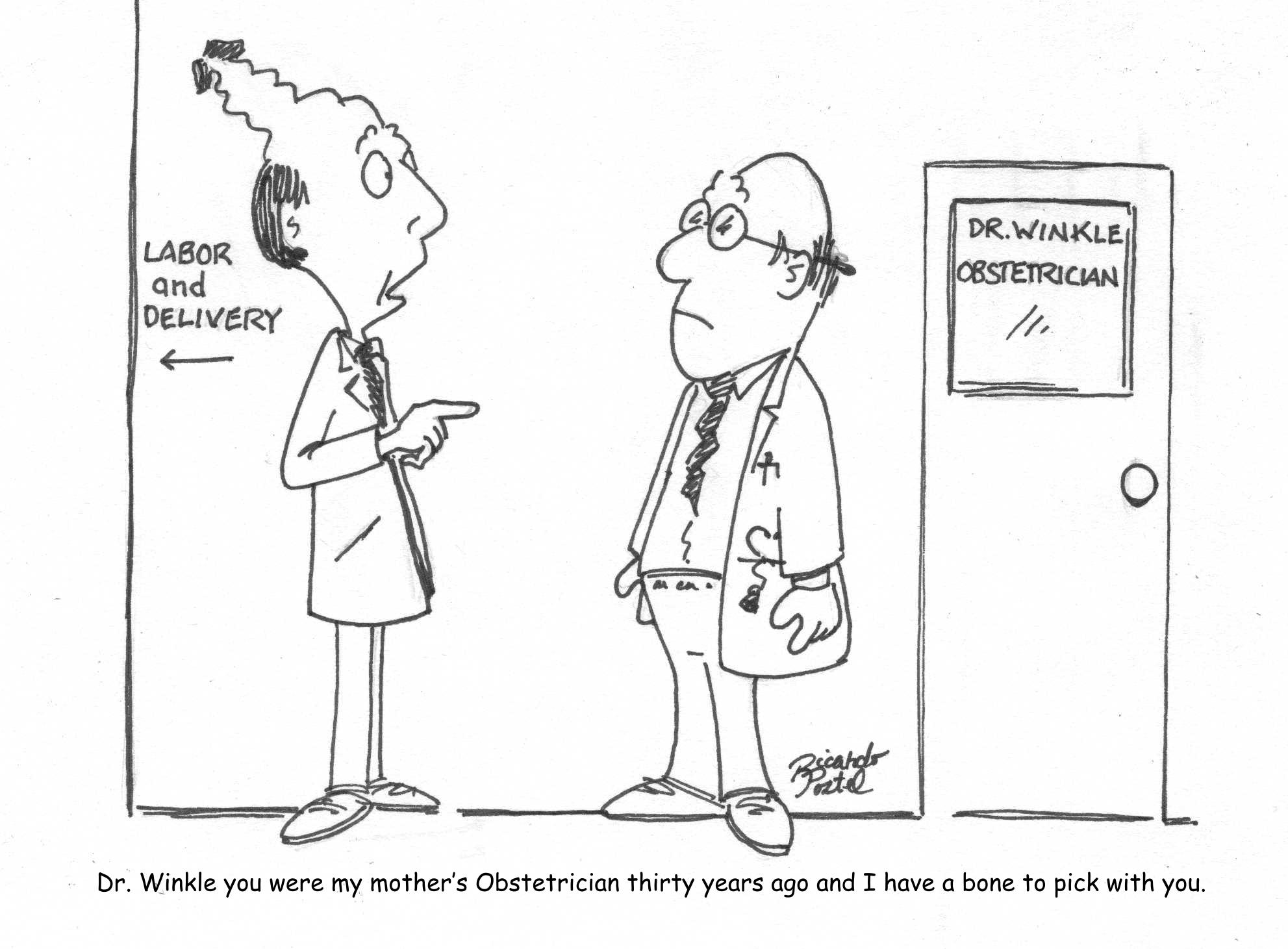 Nurse cartoons - Obstetrician
