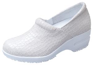 Step in Snakeskin White