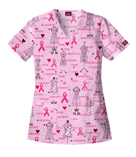 Styles We Love Breast Cancer Awareness Scrubs Top