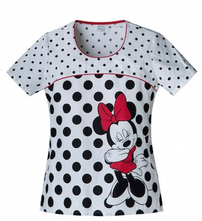Minnie Mouse scrubs top