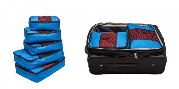 Travelwise Packing Cubes-Blue New-Horizontal