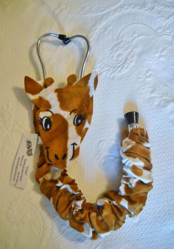 uniquely embroidered giraffe cover