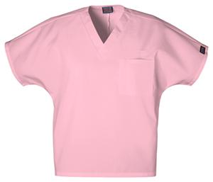 unisex v-neck tunic in pink