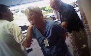 In this July 26, 2017, frame grab from video taken from a police body camera and provided by attorney Karra Porter, nurse Alex Wubbels is arrested by a Salt Lake City police officer at University Hospital in Salt Lake City. (Photo: Salt Lake City Police Department/Courtesy of Karra Porter via AP, File)