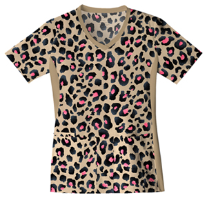 animal print scrubs top
