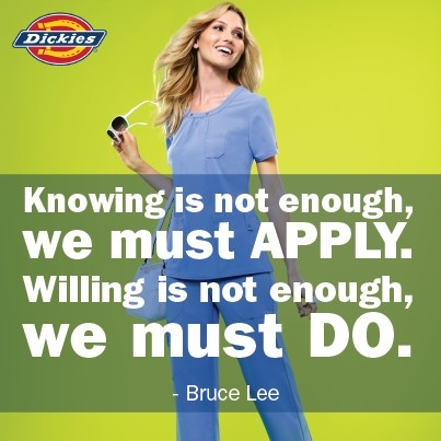 Willing is not enough, we must do.