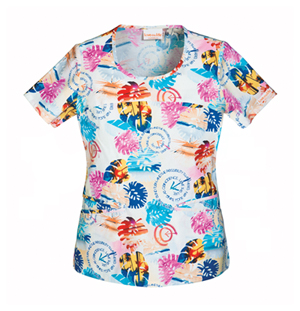 beach themed scrubs top