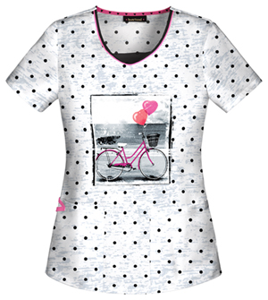 1520635030b V-Neck Top in Let's Go For A Ride: This HeartSoul V-neck top features an  adorable bike at the center, perfect for channeling one of our favorite  summer ...