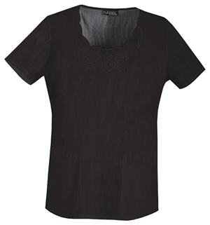 black-embroidered-scrubs-top