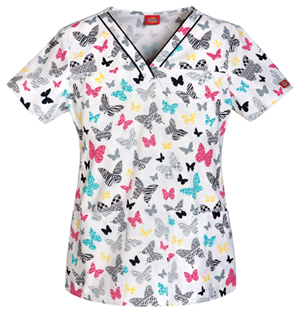 butterfly scrubs top