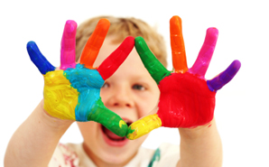 child-with-paint-on-hands