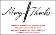 Dear Nurse: Are you thanked enough?