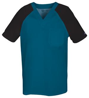 dickies-two-tone-scrubs-top