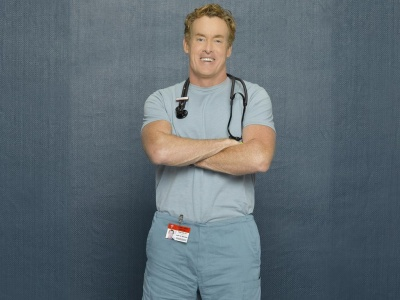 John C. McGinley in scrubs