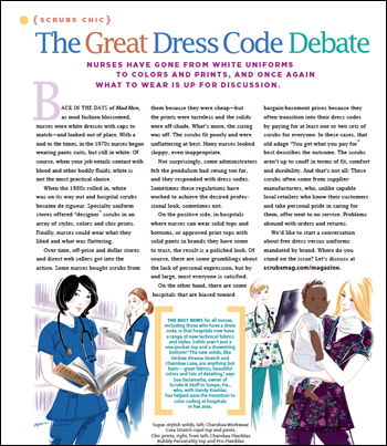 The great dress code debate - Scrubs | The Leading Lifestyle