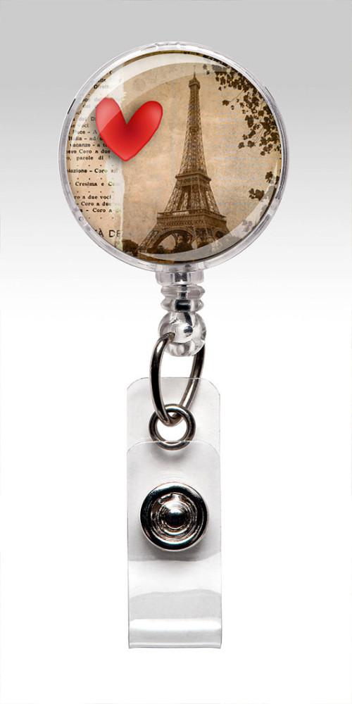 eiffel tower badge reel