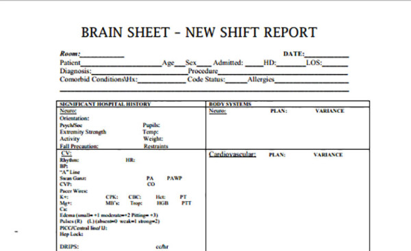 Nurse Assessment Sheet  CityEsporaCo