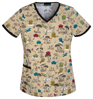 frogs scrubs top