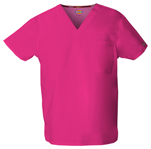 hot pink summer scrubs top